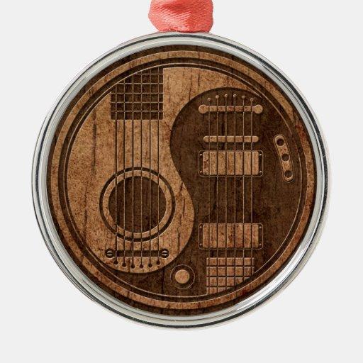 Efecto acústico de madera de Yin Yang de las Adorno Redondo Plateado
