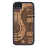 Efecto acústico de madera de Yin Yang de las guita iPhone 5 Cárcasa