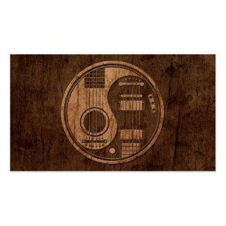 Efecto acústico de madera de Yin Yang de las guita Tarjetas De Visita