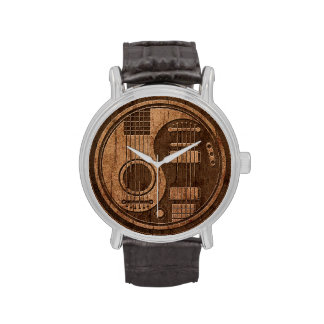 Efecto acústico de madera de Yin Yang de las Reloj De Mano