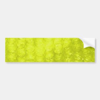 Efecto amarillo de oro del plástico de burbujas etiqueta de parachoque