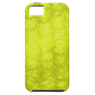 Efecto amarillo de oro del plástico de burbujas funda para iPhone SE/5/5s