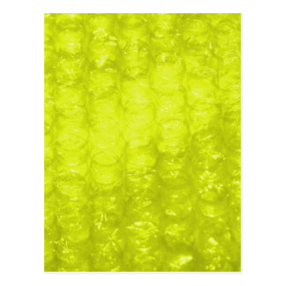 Efecto amarillo de oro del plástico de burbujas postal