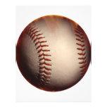 Efecto ardiente del béisbol tarjetas informativas