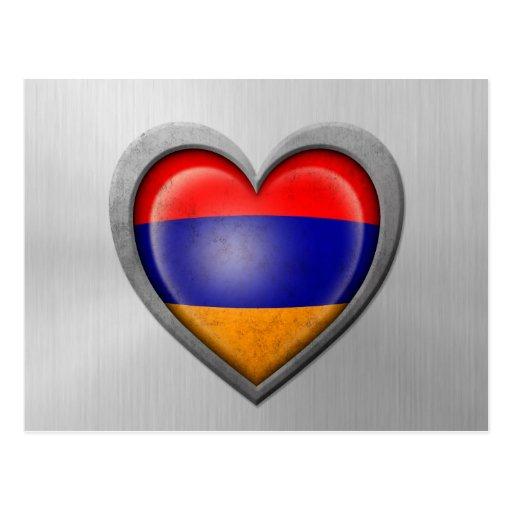 Efecto armenio del acero inoxidable de la bandera  postal