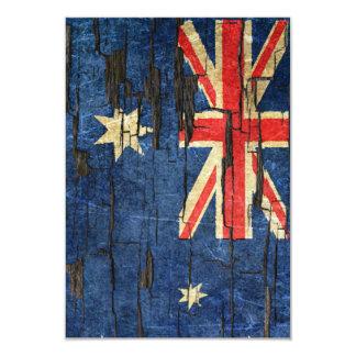 """Efecto australiano agrietado de la pintura de la invitación 3.5"""" x 5"""""""