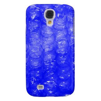 Efecto azul del plástico de burbujas funda samsung s4