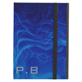 Efecto azul fresco con monograma del uniqe