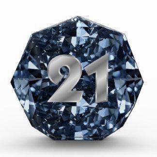 Efecto azul profundo del diamante