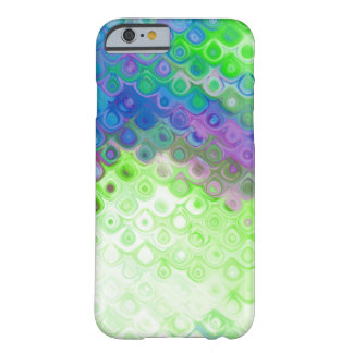 Efecto azul, verde, púrpura del metal del descenso funda de iPhone 6 barely there