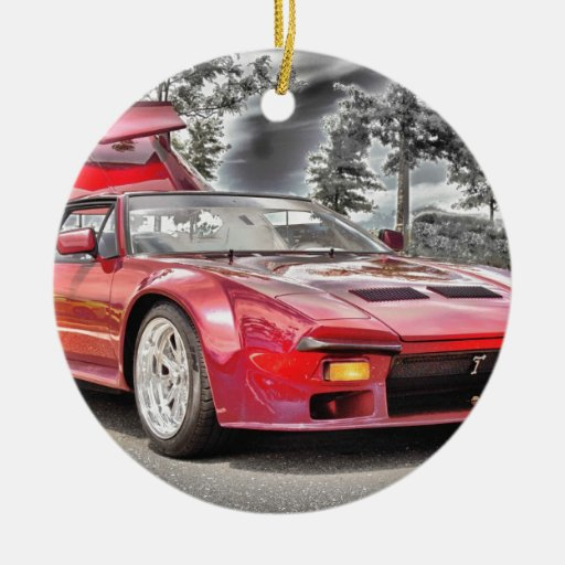 Efecto blanco negro clásico exótico del coche de adorno redondo de cerámica