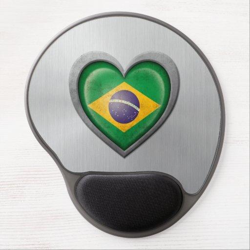 Efecto brasileño del acero inoxidable de la bander alfombrillas con gel