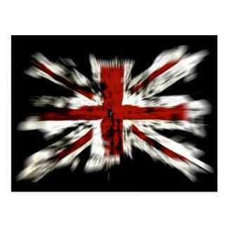 Efecto británico de la explosión de la bandera postal