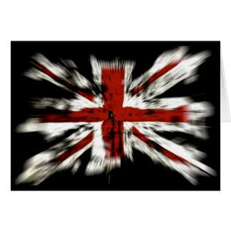 Efecto británico de la explosión de la bandera tarjeta de felicitación