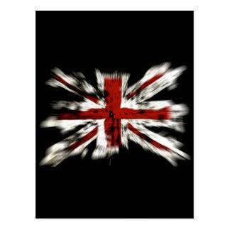 Efecto británico de la explosión de la bandera tarjeta postal
