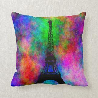 Efecto colorido del paño de París de la torre Eiff Almohadas