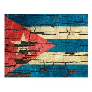 Efecto cubano agrietado de la pintura de la peladu postal