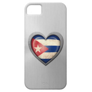 Efecto cubano del acero inoxidable de la bandera d iPhone 5 Case-Mate cobertura