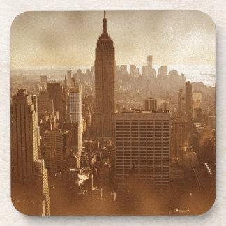 Efecto dañado Nueva York de la foto Posavasos