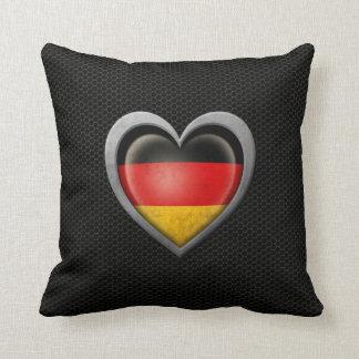 Efecto de acero de la malla de la bandera alemana almohada