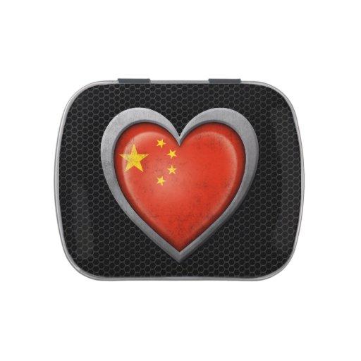 Efecto de acero de la malla de la bandera china de latas de caramelos