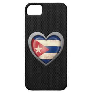 Efecto de acero de la malla de la bandera cubana d iPhone 5 cárcasa