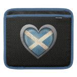 Efecto de acero de la malla de la bandera escocesa funda para iPads