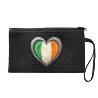 Efecto de acero de la malla de la bandera irlandes