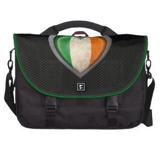 Efecto de acero de la malla de la bandera irlandes bolsas para portatil