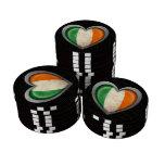 Efecto de acero de la malla de la bandera irlandes fichas de póquer