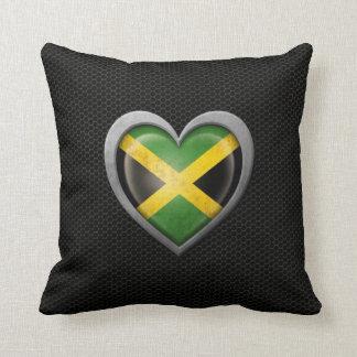 Efecto de acero de la malla de la bandera jamaican almohadas