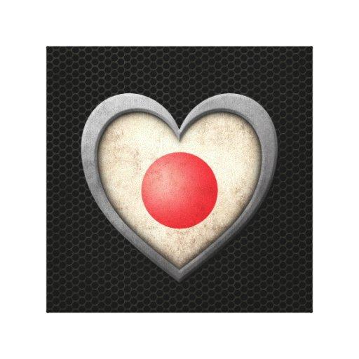 Efecto de acero de la malla de la bandera japonesa impresión en lona