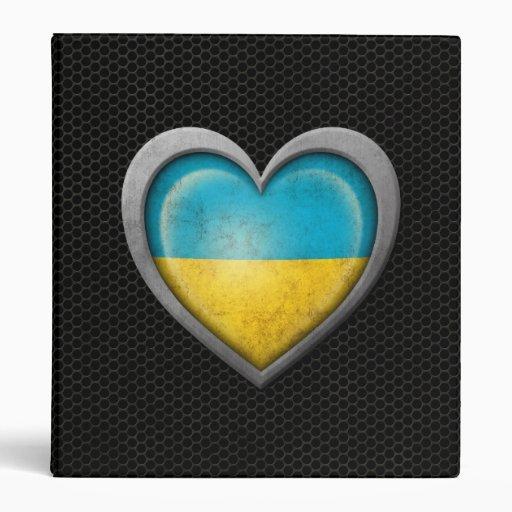 Efecto de acero de la malla de la bandera ucranian
