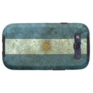Efecto de acero envejecido bandera argentina galaxy s3 cárcasa