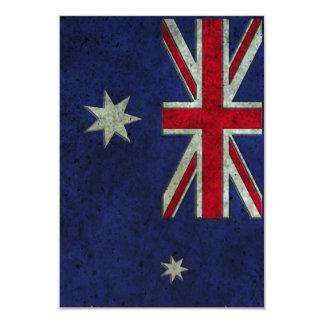 """Efecto de acero envejecido bandera australiana invitación 3.5"""" x 5"""""""