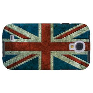Efecto de acero envejecido bandera británica funda para galaxy s4