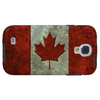 Efecto de acero envejecido bandera canadiense