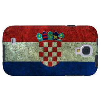 Efecto de acero envejecido bandera croata