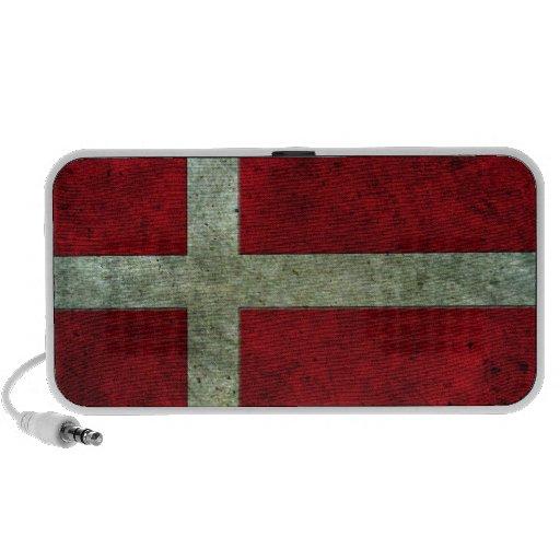 Efecto de acero envejecido bandera danesa iPod altavoces