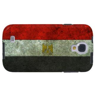 Efecto de acero envejecido bandera egipcia