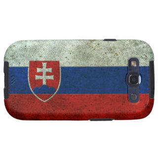 Efecto de acero envejecido bandera eslovaca galaxy SIII cárcasa