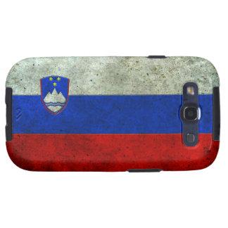 Efecto de acero envejecido bandera eslovena galaxy SIII fundas