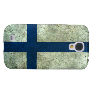 Efecto de acero envejecido bandera finlandesa