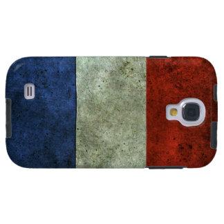 Efecto de acero envejecido bandera francesa
