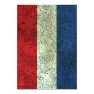 """Efecto de acero envejecido bandera holandesa invitación 3.5"""" x 5"""""""