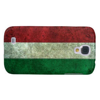 Efecto de acero envejecido bandera húngara