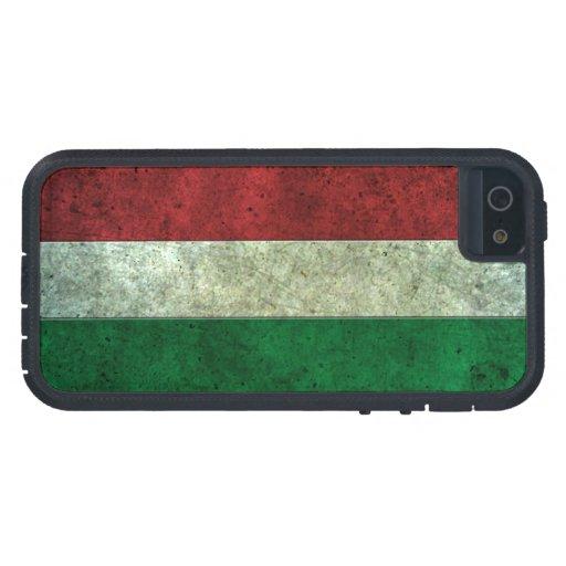 Efecto de acero envejecido bandera húngara iPhone 5 carcasa