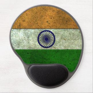 Efecto de acero envejecido bandera india alfombrilla con gel