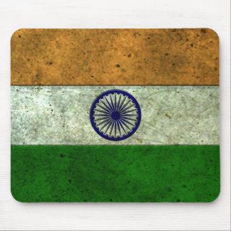 Efecto de acero envejecido bandera india alfombrillas de raton