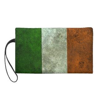 Efecto de acero envejecido bandera irlandesa